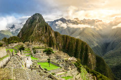 Machu Picchu. The Inca's lost city Machu Picchu without any tourists at dawn Royalty Free Stock Photos