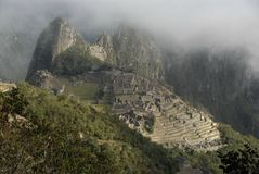 Machu Picchu from Inca trail Royalty Free Stock Images