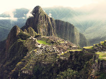 Machu Picchu. The Incan lost city of Machu Picchu Stock Images