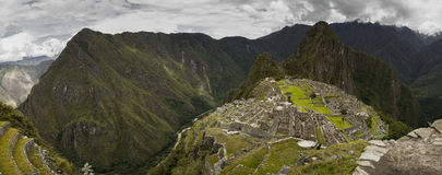 Machu Picchu. The Incan ruins of Machu Picchu in Peru royalty free stock photography