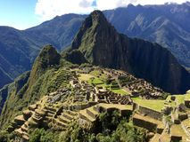 Machu Picchu. Incan ruins in Peruvian  Andes Stock Photo