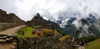 Machu Picchu, Incnca-Ruinen in den peruanischen Anden stockbild