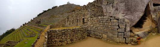 Machu Picchu, Incnca ruins in the Peruvian Andes royalty free stock photo