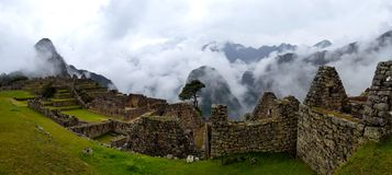 Machu Picchu, Incnca ruins in the Peruvian Andes stock photo