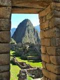 Machu Picchu incorniciato fotografie stock