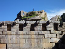 Machu picchu inka神圣的废墟 免版税库存照片