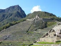 Machu picchu inka神圣的废墟 免版税库存图片