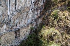 Machu Picchu inka most Zdjęcia Stock