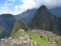 Machu picchu inka sacred ruin. In peru royalty free stock photos