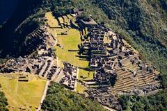 Machu Picchu, Inkaruinen in den peruanischen Anden bei Cuzco Peru Stockfotos