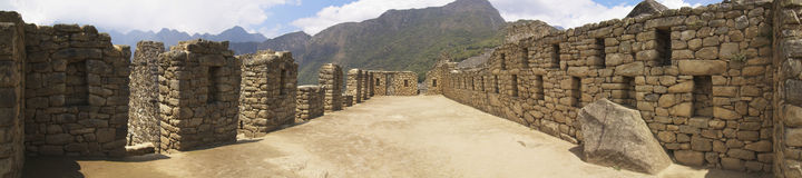 Machu Picchu large room building. Large building with a large room inside Machu Picchu Stock Photos