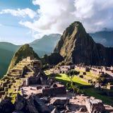 Machu Picchu, les Andes, Pérou Photographie stock libre de droits