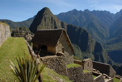 Machu Picchu Living Quarters Royalty Free Stock Images