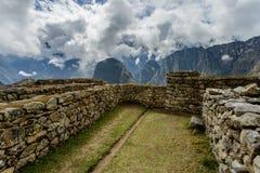 Machu Picchu, local arqueológico antigo, Peru imagens de stock royalty free