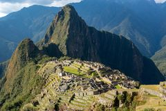 Machu Picchu, the lost city of inca in Peru royalty free stock image