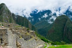 Machu Picchu, lost city of Incas, Peru, 02/08/2019 stock images