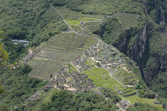 Machu Picchu - the lost city of the Incas, Peru. Royalty Free Stock Photos