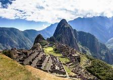 Machu Picchu Lost city of Inkas, new world wonder. Machu Picchu Lost city of Inkas in Peru Royalty Free Stock Image