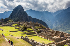 Machu Picchu Lost city of Inkas, new world wonder. Machu Picchu Lost city of Inkas Peru Royalty Free Stock Images