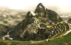 Machu picchu. The lost city of Machu picchu and the river Urubamba Royalty Free Stock Photography