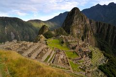 Machu Picchu, lost Inca city in the Andes, Peru Stock Photography