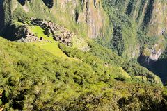 Machu Picchu, lost Inca city in the Andes, Peru Royalty Free Stock Photo