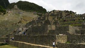 Machu Picchu ludzie Rusza się W inka ruin upływie zbiory