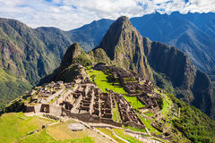 Machu Picchu. A UNESCO World Heritage Site in 1983. One of the New Seven Wonders of the World Royalty Free Stock Photography