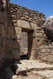 Machu Picchu main gate Royalty Free Stock Photos