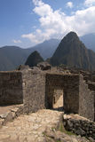 Machu Picchu main gate Royalty Free Stock Image