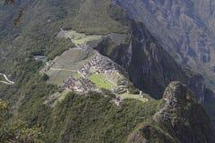 Machu Picchu, mening vanaf de bovenkant Royalty-vrije Stock Afbeelding