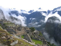 Machu Picchu with mist Royalty Free Stock Photos