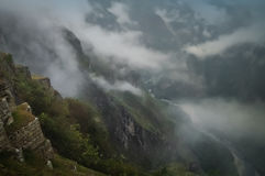 Machu Picchu in mist Royalty Free Stock Images