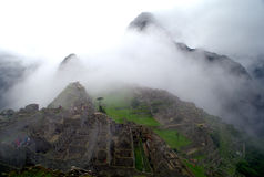 Machu Picchu in the mist Royalty Free Stock Image