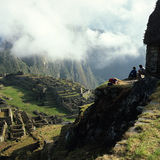 Machu Picchu Morgenansicht stockfotos