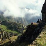 Machu Picchu morgonsikt arkivfoton