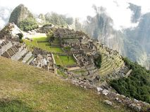 Machu Picchu in morning mist, Peru Stock Photo