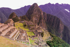 Machu Picchu in the morning Royalty Free Stock Image