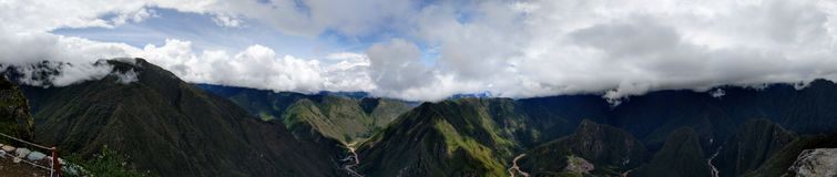 Machu Picchu Mountains. Mountains surrounding Machu Picchu, Peru Stock Photos