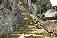Machu picchu near Cuzco, Peru. The world heritage site stock photo