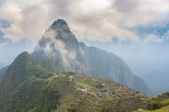 Machu Picchu no Peru fotos de stock royalty free