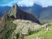 Machu Picchu overview in Peru. Ancient architecture of inca lost city in Cuzco, Peru . View with Wayna Picchu Stock Image