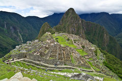 Machu Picchu, Pérou : Composé total de vue d'ensemble Photos stock