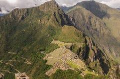 Machu Picchu Pérou, picchu de huayna Photos libres de droits