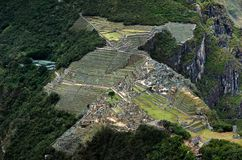 Machu Picchu Panarama. From the top of Wyna Picchu stock images