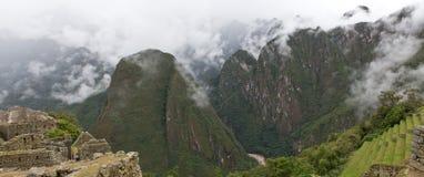 Machu Picchu panorama Arkivbild