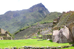 Machu Picchu panorama overview. Peru Stock Image