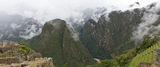 Machu Picchu Panorama. Panorama view of Machu Picchu and  the beautiful, cloud-shrouded mountains, Cuzco,  Peru Stock Photography