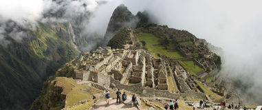 Machu Picchu panoramic Royalty Free Stock Images