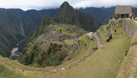Machu Picchu panoramic Stock Image